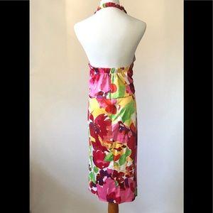 Blu Sage Dresses - Blu Sage Floral Halter Dress